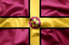 Ζωηρόχρωμοι κυματισμός Northamptonshire και απεικόνιση σημαιών κινηματογραφήσεων σε πρώτο πλάνο ελεύθερη απεικόνιση δικαιώματος