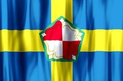 Ζωηρόχρωμοι κυματισμός Pembrokeshire και απεικόνιση σημαιών κινηματογραφήσεων σε πρώτο πλάνο διανυσματική απεικόνιση