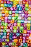 Ζωηρόχρωμοι κύβοι επιστολών αλφάβητου Στοκ Φωτογραφία