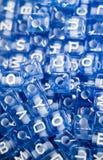 Ζωηρόχρωμοι κύβοι επιστολών αλφάβητου Στοκ Εικόνα