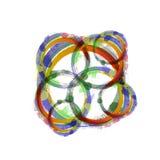 Ζωηρόχρωμοι κύκλοι watercolor Στοκ εικόνες με δικαίωμα ελεύθερης χρήσης