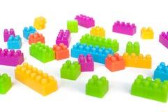 Ζωηρόχρωμοι φραγμοί lego Στοκ φωτογραφία με δικαίωμα ελεύθερης χρήσης