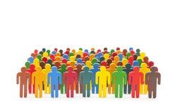 Ζωηρόχρωμοι χρωματισμένοι αριθμοί ομάδων ανθρώπων Στοκ φωτογραφία με δικαίωμα ελεύθερης χρήσης