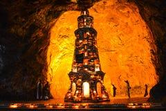 Ζωηρόχρωμος αλατισμένος μιναρές μέσα στο ορυχείο Khewra στοκ φωτογραφίες με δικαίωμα ελεύθερης χρήσης
