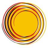 Ζωηρόχρωμος αφηρημένος γεωμετρικός ήλιος απεικόνιση αποθεμάτων