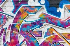 Ζωηρόχρωμος αφηρημένος κόσμος γκράφιτι Στοκ Εικόνα