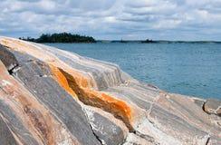 ζωηρόχρωμος βράχος σχημα&tau Στοκ Εικόνα