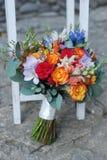 ζωηρόχρωμος γάμος ανθοδεσμών Στοκ Φωτογραφία