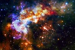 Ζωηρόχρωμος γαλαξίας στο μακρινό διάστημα Στοιχεία αυτής της εικόνας που εφοδιάζεται από τη NASA στοκ φωτογραφία με δικαίωμα ελεύθερης χρήσης