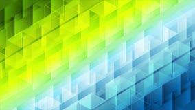 Ζωηρόχρωμος γεωμετρικός polygonal η τηλεοπτική ζωτικότητα διανυσματική απεικόνιση