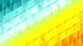 Ζωηρόχρωμος γεωμετρικός polygonal η τηλεοπτική ζωτικότητα ελεύθερη απεικόνιση δικαιώματος