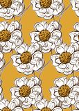 Ζωηρόχρωμος διανυσματικός σχεδίου λουλουδιών τέχνης ζωγραφικής διακοσμήσεων κήπος σχεδίων ταπετσαριών άνευ ραφής ελεύθερη απεικόνιση δικαιώματος
