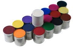 ζωηρόχρωμος δοχείων που χρωματίζεται Στοκ Εικόνες