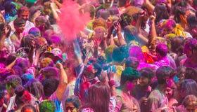 Ζωηρόχρωμος εορτασμός holi στοκ φωτογραφία με δικαίωμα ελεύθερης χρήσης
