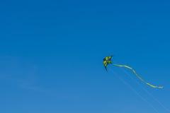 Ζωηρόχρωμος ικτίνος που πετά στο θερινό μπλε ουρανό Στοκ εικόνες με δικαίωμα ελεύθερης χρήσης