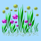 ζωηρόχρωμος κήπος λουλ&om Στοκ εικόνες με δικαίωμα ελεύθερης χρήσης