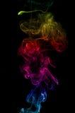 Ζωηρόχρωμος καπνός στο μαύρο υπόβαθρο Στοκ Φωτογραφίες