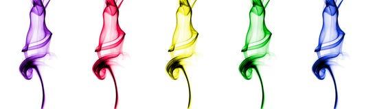 ζωηρόχρωμος καπνός Ελεύθερη απεικόνιση δικαιώματος