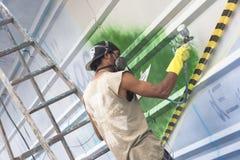 ζωηρόχρωμος καλυμμένος τοίχος οδών γκράφιτι τέχνης Στοκ φωτογραφίες με δικαίωμα ελεύθερης χρήσης