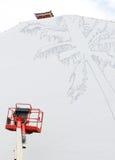 ζωηρόχρωμος καλυμμένος τοίχος οδών γκράφιτι τέχνης tenerife Στοκ Εικόνα