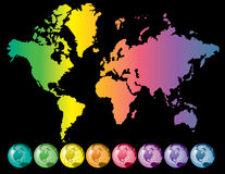 ζωηρόχρωμος κόσμος χαρτών Ελεύθερη απεικόνιση δικαιώματος
