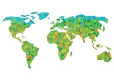 ζωηρόχρωμος κόσμος χαρτών Στοκ εικόνες με δικαίωμα ελεύθερης χρήσης