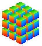 ζωηρόχρωμος κύβος απεικόνιση αποθεμάτων