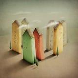 ζωηρόχρωμος μικρός πόλεων Στοκ Φωτογραφία