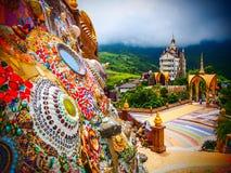 Ζωηρόχρωμος ναός στοκ εικόνες