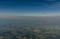 ζωηρόχρωμος ουρανός μπαλονιών Στοκ Εικόνες