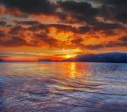 Ζωηρόχρωμος ουρανός πέρα από την παραλία Mugoni Στοκ φωτογραφία με δικαίωμα ελεύθερης χρήσης