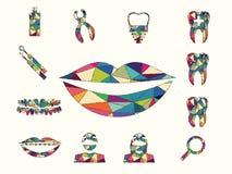 Ζωηρόχρωμος οδοντικός Στοκ φωτογραφία με δικαίωμα ελεύθερης χρήσης