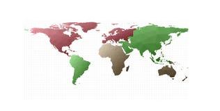 Ζωηρόχρωμος παγκόσμιος χάρτης διανυσματική απεικόνιση