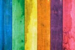 Ζωηρόχρωμος παλαιός ξύλινος τοίχος grunge Στοκ Φωτογραφία