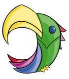 ζωηρόχρωμος παπαγάλος διανυσματική απεικόνιση
