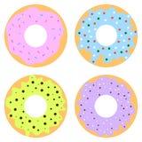 Ζωηρόχρωμος που βερνικώνεται donuts Στοκ Φωτογραφίες