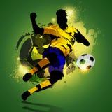 Ζωηρόχρωμος πυροβολισμός ποδοσφαιριστών Στοκ εικόνες με δικαίωμα ελεύθερης χρήσης