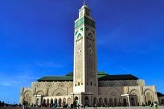 Ζωηρόχρωμος πυροβολισμός του Hassan ΙΙ μουσουλμανικό τέμενος Στοκ φωτογραφίες με δικαίωμα ελεύθερης χρήσης