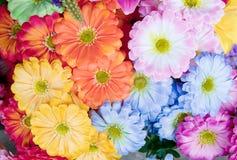 Ζωηρόχρωμος της τεχνητής άνθισης λουλουδιών gerbera Στοκ Φωτογραφία