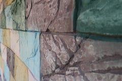 ζωηρόχρωμος τοίχος ανασ&kap στοκ εικόνα