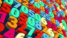 Ζωηρόχρωμος τοίχος αριθμού διανυσματική απεικόνιση