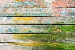 ζωηρόχρωμος τοίχος ξύλιν&omicr Στοκ εικόνες με δικαίωμα ελεύθερης χρήσης