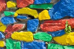 Ζωηρόχρωμος τοίχος πετρών Στοκ Εικόνες