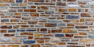 ζωηρόχρωμος τοίχος πετρών Στοκ Εικόνα