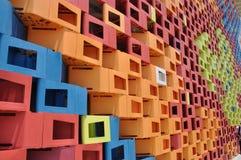 Ζωηρόχρωμος τοίχος στον κόσμο EXPO της Σαγγάης Στοκ φωτογραφίες με δικαίωμα ελεύθερης χρήσης