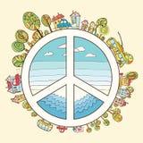 Ζωηρόχρωμος του Ειρηνικού, κανένας πόλεμος διανυσματική απεικόνιση