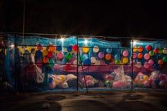 Ζωηρόχρωμος του μπαλονιού τη νύχτα Στοκ εικόνες με δικαίωμα ελεύθερης χρήσης