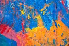 Ζωηρόχρωμος του παλαιού τοίχου τσιμέντου Στοκ εικόνες με δικαίωμα ελεύθερης χρήσης