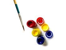 Ζωηρόχρωμος του χρώματος και του πινέλου αφισών μπουκαλιών Στοκ Φωτογραφία