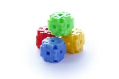 Ζωηρόχρωμος των παιχνιδιών κατασκευής Στοκ φωτογραφία με δικαίωμα ελεύθερης χρήσης